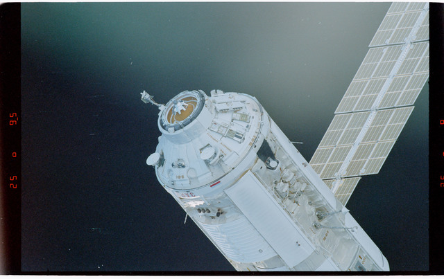 STS088-369-008 - STS-088 - View of the free-flying ISS stack taken during fly-around by STS-95