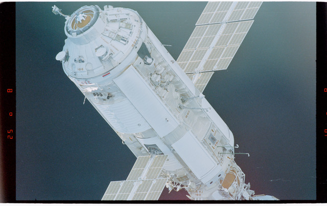 STS088-369-009 - STS-088 - View of the free-flying ISS stack taken during fly-around by STS-96
