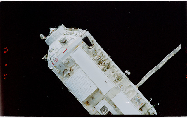 STS088-369-017 - STS-088 - View of the free-flying ISS stack taken during fly-around by STS-104