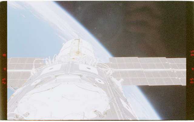 STS088-372-010 - STS-088 - View of the ISS stack in the Endeavour's payload bay