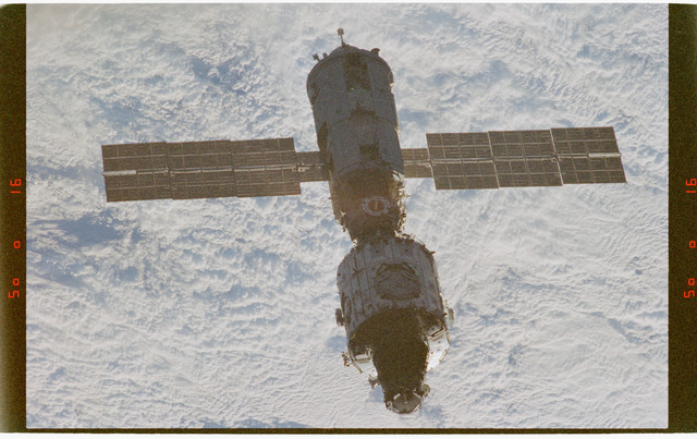 STS088-372-029 - STS-088 - Views of the ISS stack in orbit taken during STS-88 flyaround