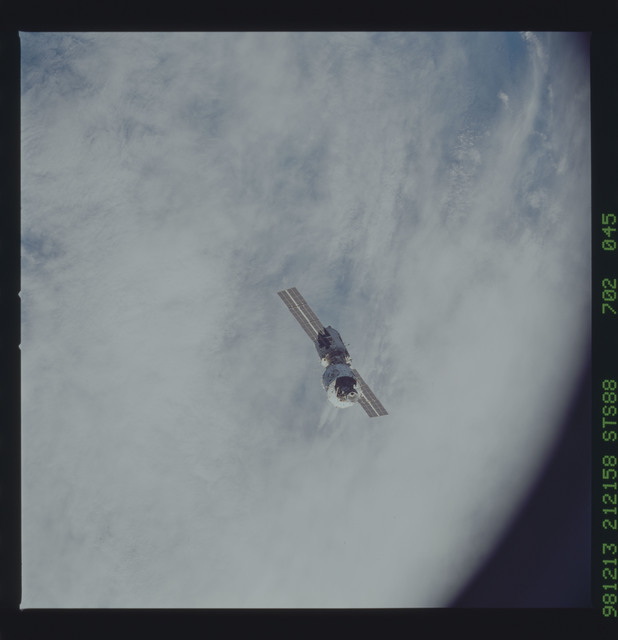 STS088-702-045 - STS-088 - View of the ISS stack in orbit after assembly