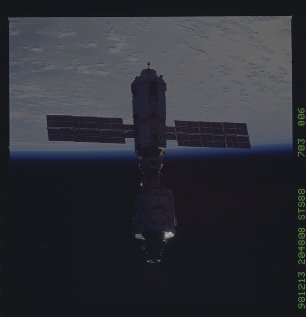 STS088-703-006 - STS-088 - View of the ISS stack in orbit after assembly