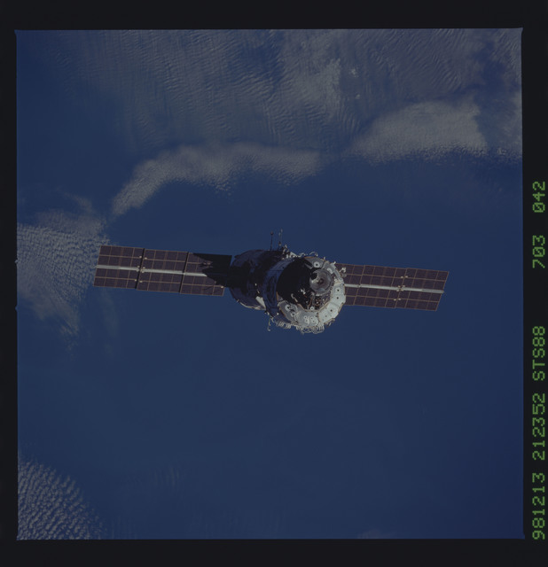 STS088-703-042 - STS-088 - View of the ISS stack in orbit after assembly