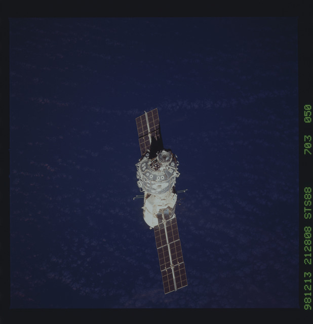 STS088-703-050 - STS-088 - View of the ISS stack in orbit after assembly