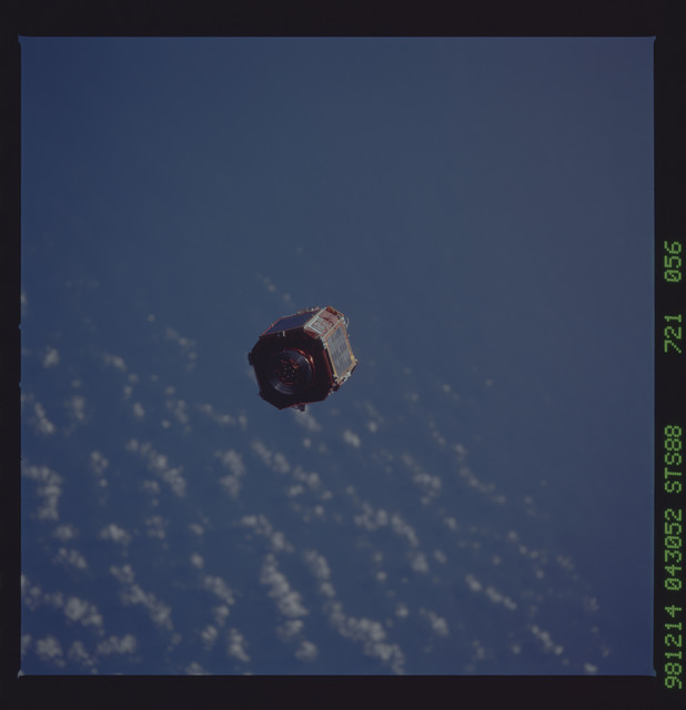 STS088-721-056 - STS-088 - SAC-A satellite in orbit over the Earth