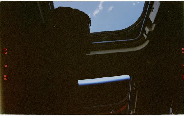 STS090-371-002 - STS-090 - Dark views of the aft flight deck windows