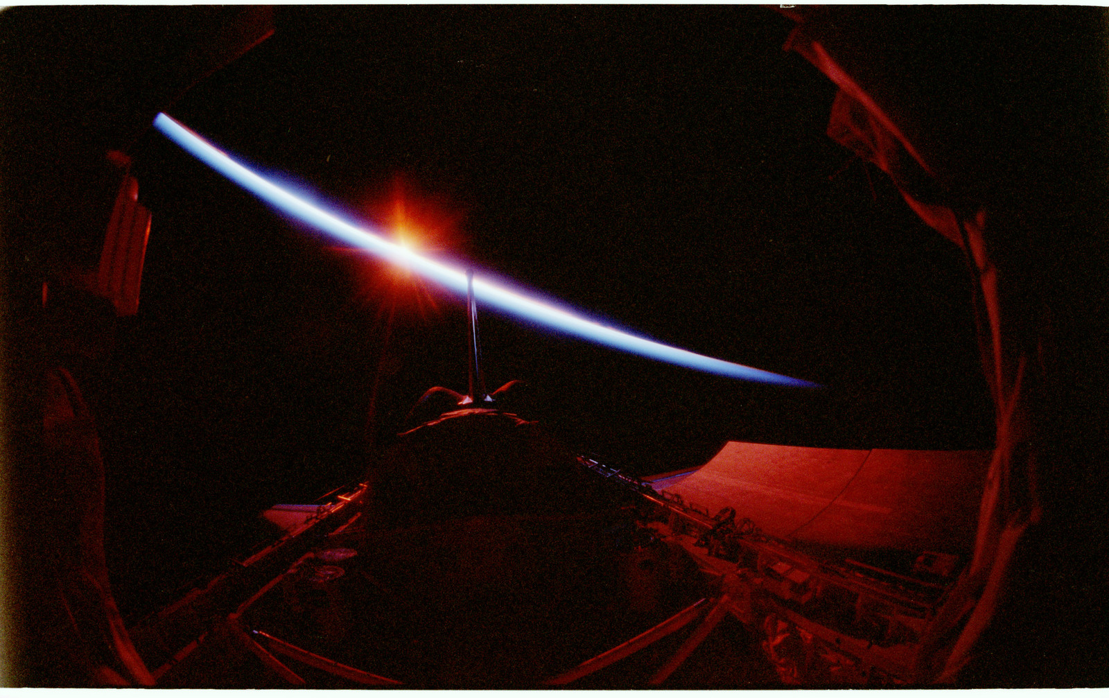 STS090-383-016 - STS-090 - Sunrise over the Columbia's payload bay
