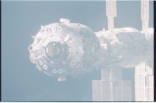 STS092-403-004 - STS-092 - View of the ISS during rendezvous and docking
