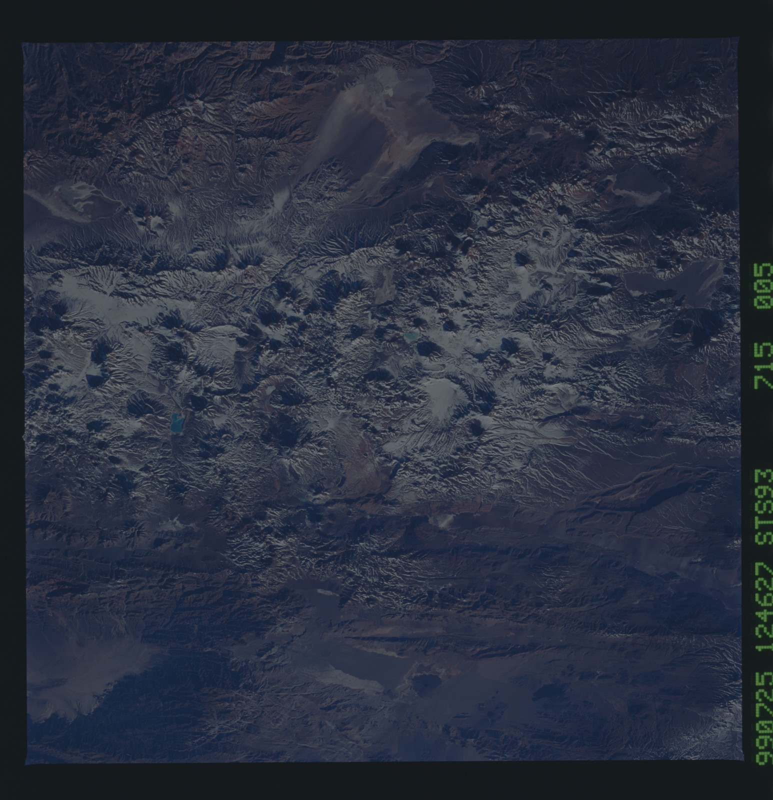 STS093-715-005 - STS-093 - Earth observations of the Andes Mts. taken from Columbia during STS-93 mission