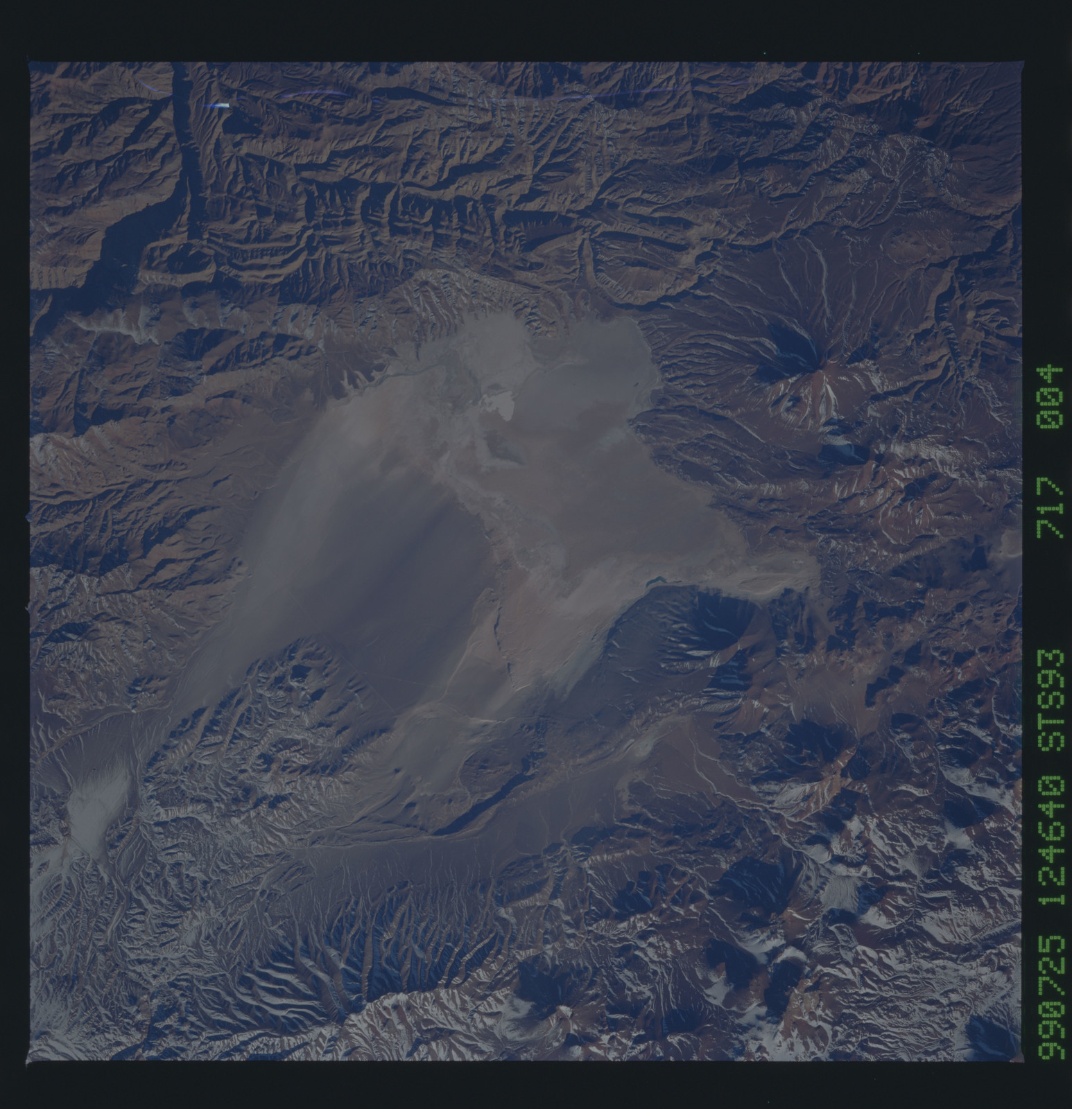 STS093-717-004 - STS-093 - Earth observations of the Andes Mts. taken from Columbia during STS-93 mission