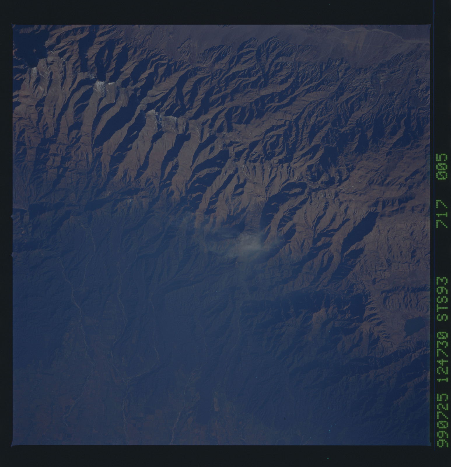 STS093-717-005 - STS-093 - Earth observations of the Andes Mts. taken from Columbia during STS-93 mission