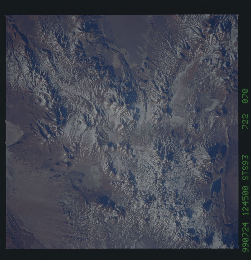 STS093-722-070 - STS-093 - Earth observations of the Andes Mts. taken from Columbia during STS-93 mission