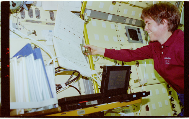 STS094-378-003 - STS-094 - Voss in Spacelab