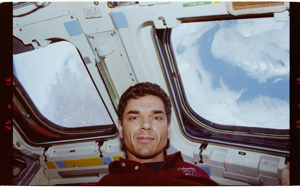 STS094-381-009 - STS-094 - Linteris and Still on flight deck