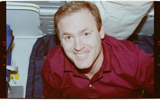 STS094-491-033 - STS-094 - Halsell on flight deck