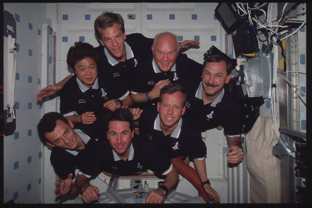 STS095-354-006 - STS-095 - STS-95 in-flight crew portrait