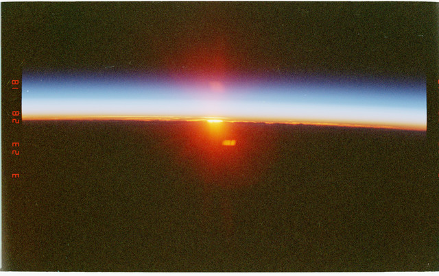 STS096-358-025 - STS-096 - Sunrise photos taken during STS-96 mission