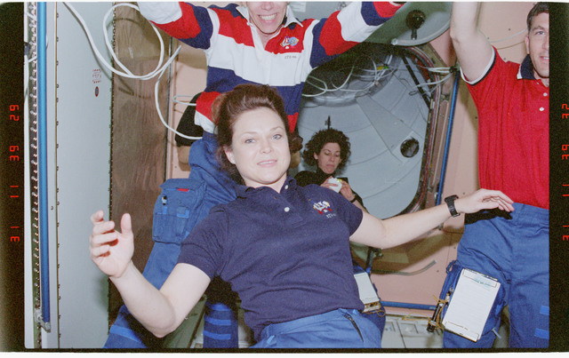 STS096-368-025 - STS-096 - View of the STS-96 crew in the Node 1/Unity module