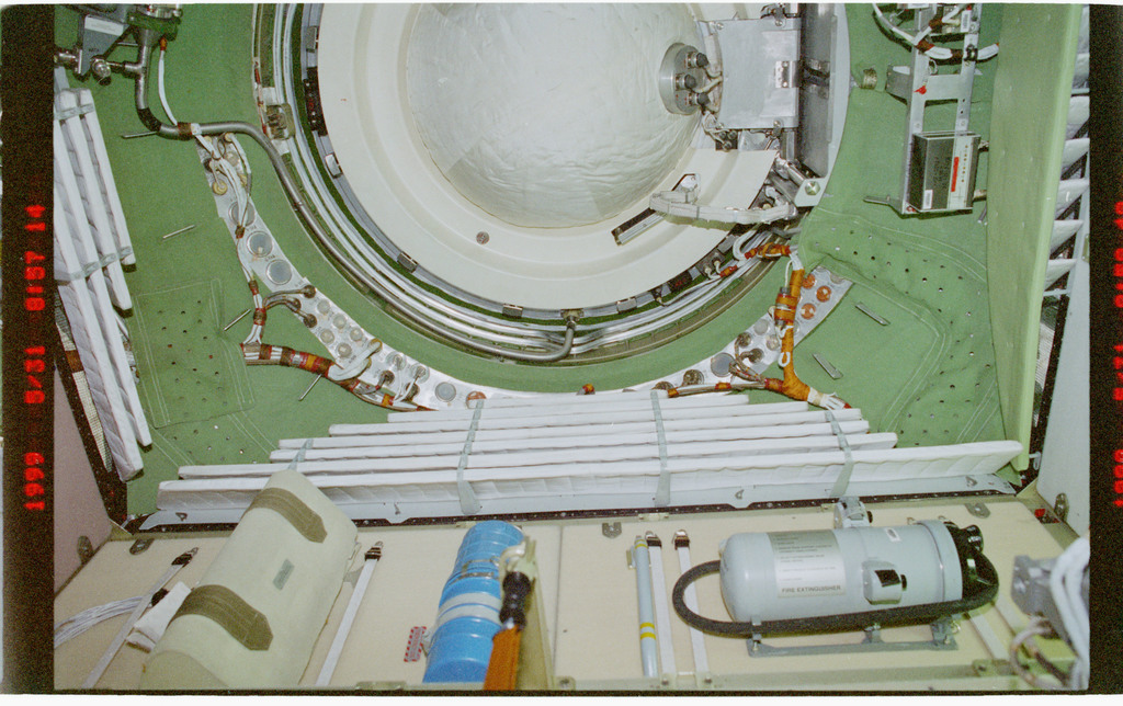STS096-377-008 - STS-096 - Accustic mufflers installed in the FGB/Zarya module
