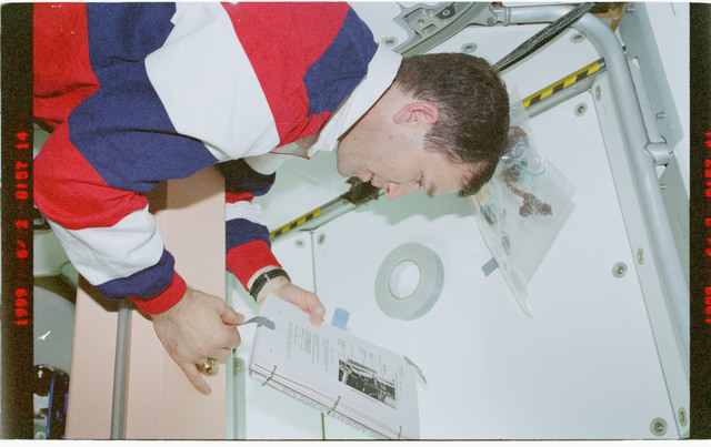 STS096-379-033 - STS-096 - PLT Husband on Node 1/Unity module