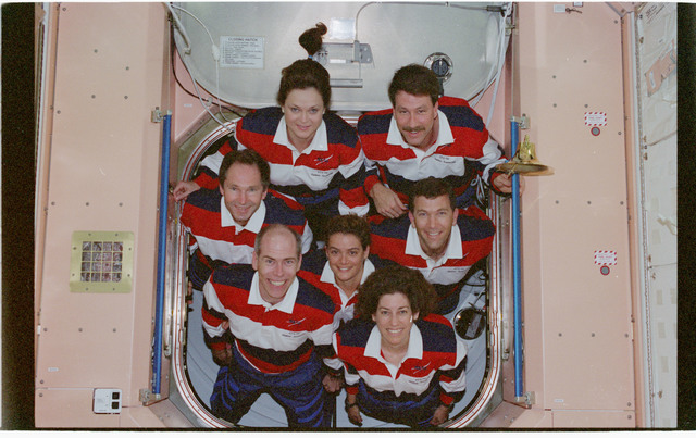 STS096-380-021 - STS-096 - STS-96 In-flight crew portrait in the Node 1/Unity module
