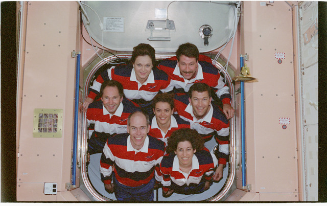 STS096-380-027 - STS-096 - STS-96 In-flight crew portrait in the Node 1/Unity module
