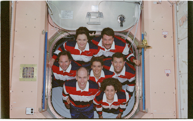 STS096-380-028 - STS-096 - STS-96 In-flight crew portrait in the Node 1/Unity module