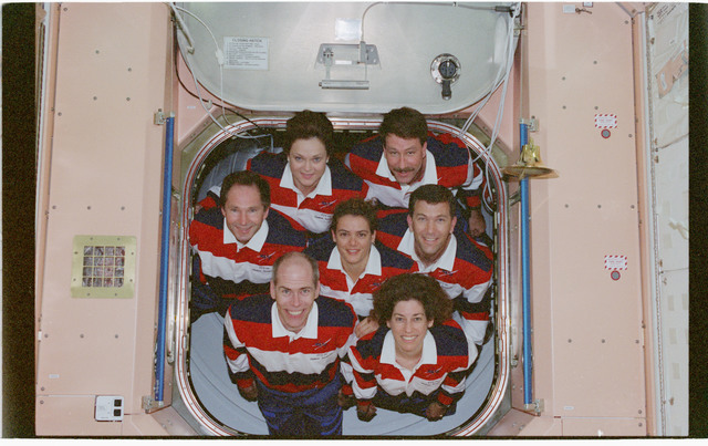 STS096-380-029 - STS-096 - STS-96 In-flight crew portrait in the Node 1/Unity module