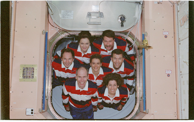 STS096-380-031 - STS-096 - STS-96 In-flight crew portrait in the Node 1/Unity module