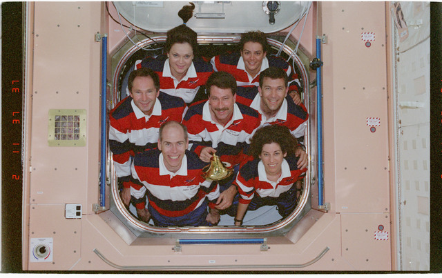 STS096-382-009 - STS-096 - STS-96 In-flight crew portrait in the Node 1/Unity module