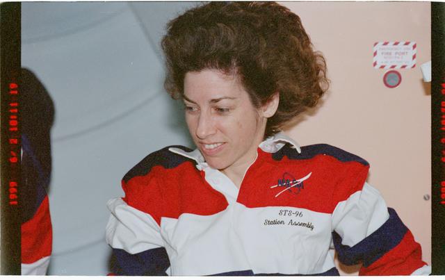 STS096-383-005 - STS-096 - Portrait view of MS Ochoa in the Node 1/Unity module