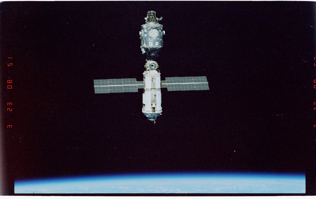 STS096-406-018 - STS-096 - Overview of the ISS during fly-around
