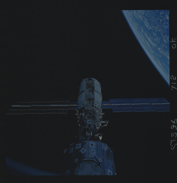 STS096-712-000K - STS-096 - Survey view of the ISS taken while still docked in payload bay