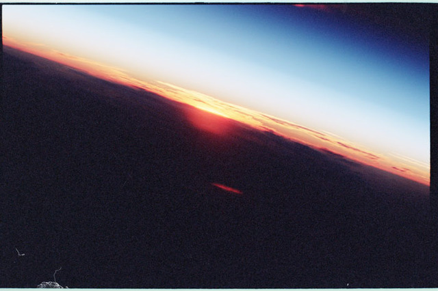 STS098-350-001 - STS-098 - Sunrise photo taken by STS-98 crew