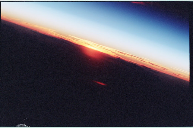 STS098-350-003 - STS-098 - Sunrise photo taken by STS-98 crew