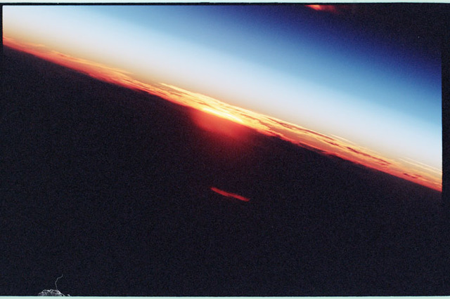 STS098-350-005 - STS-098 - Sunrise photo taken by STS-98 crew