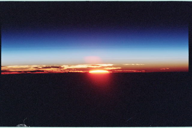 STS098-350-023 - STS-098 - Sunrise photo taken by STS-98 crew