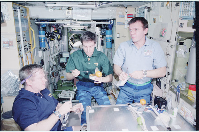 STS098-353-007 - STS-098 - Expedition One crew in Service Module