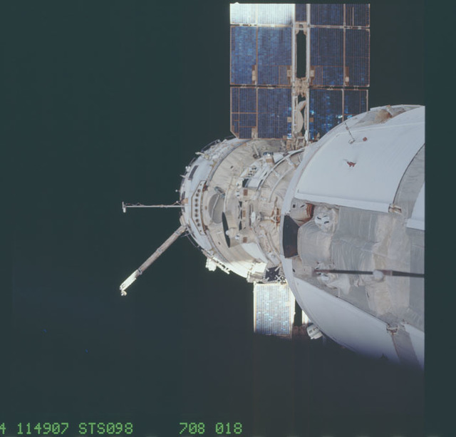STS098-708-018 - STS-098 - Assorted views of the exterior of the ISS taken by STS-98