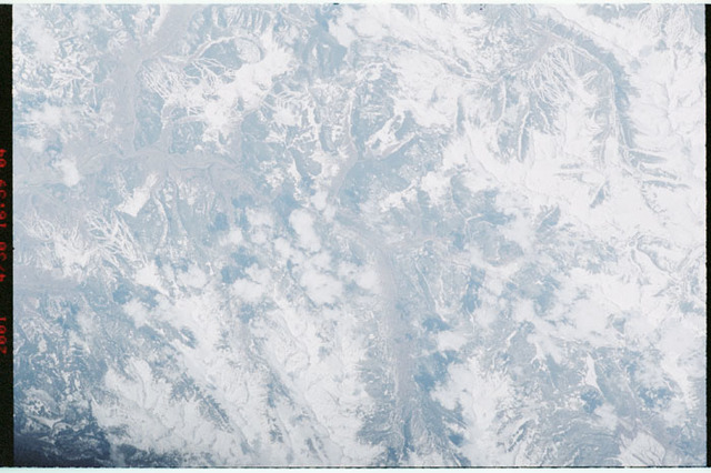 STS100-349-010 - STS-100 - Earth observation image of Vail and Copper Mountain ski resorts,Colorado taken during STS-100