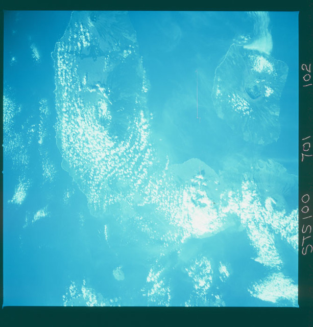 STS100-701-102 - STS-100 - Infrared Earth observation image of the Galapagos Islands taken during STS-100.