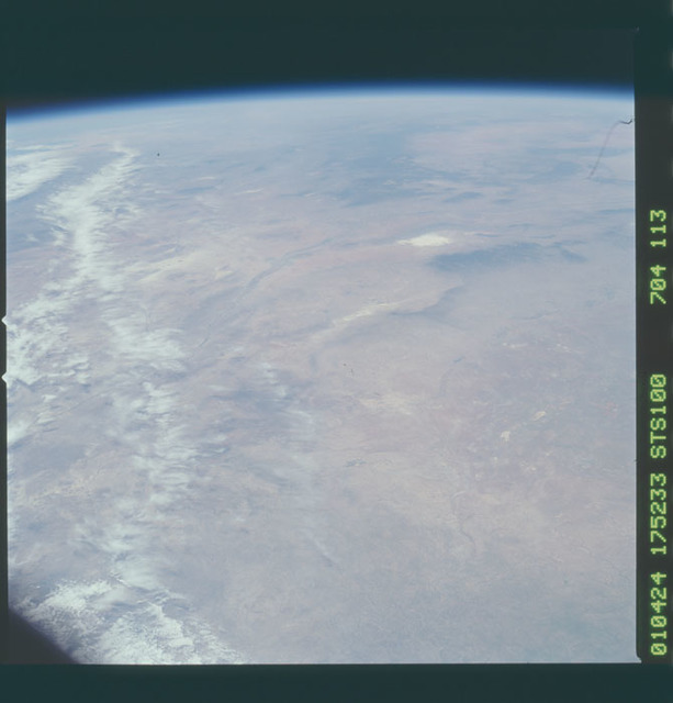 STS100-704-113 - STS-100 - Earth observation image of the Rio Grande rift taken during STS-100