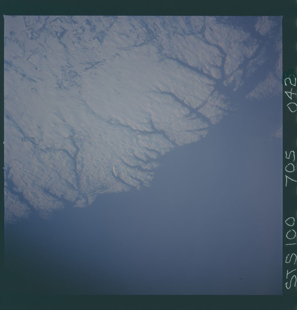 STS100-705-042 - STS-100 - Earth observation image of Fortune Bay, Newfoundland taken during STS-100.