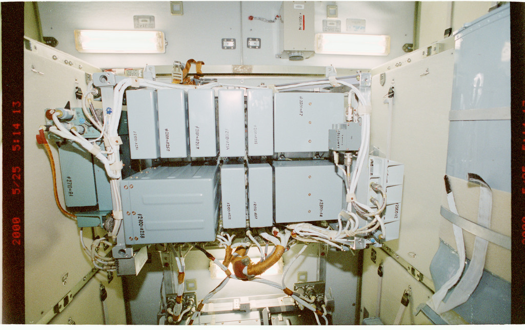 STS101-331-027 - STS-101 - View of interior hardware in the FGB/Zarya module