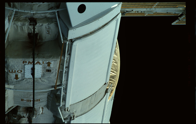 STS101-351-023 - STS-101 - Exterior view of Plane III (-ZA) of FGB/Zarya