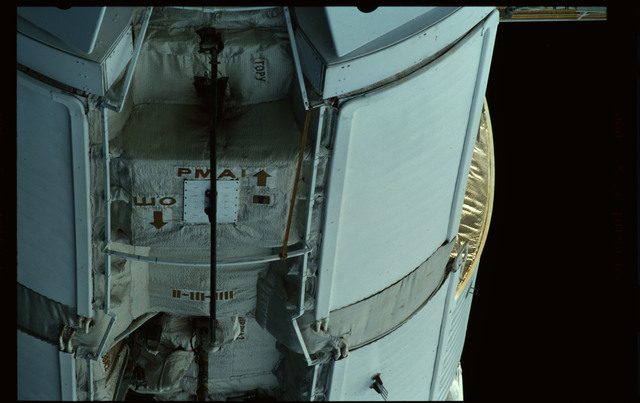 STS101-351-026 - STS-101 - Exterior view of Plane III (-ZA) of FGB/Zarya