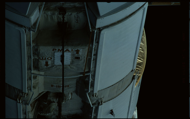STS101-351-027 - STS-101 - Exterior view of Plane III (-ZA) of FGB/Zarya