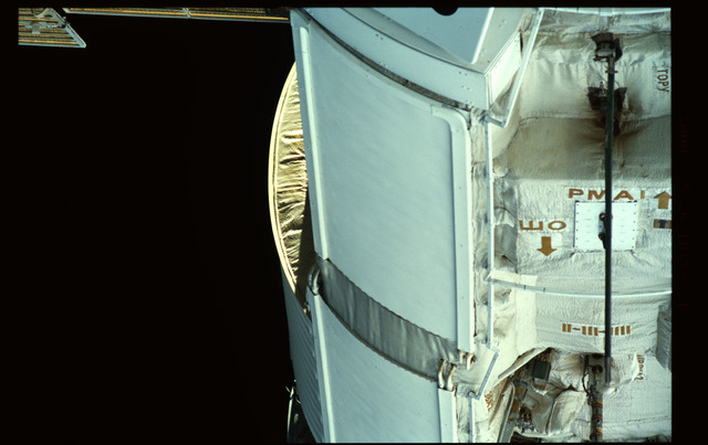 STS101-351-035 - STS-101 - Exterior view of Plane III (-ZA) of FGB/Zarya