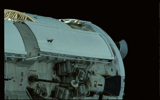 STS101-368-022 - STS-101 - Views of Plane III Zenith side of the FGB/Zarya module